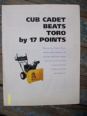 Vintage Rare IH International Harvester Cub Cadet VS Toro Flyer
