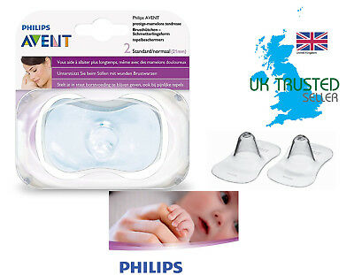 Philips AVENT Standard Nipple Protectors Shield Baby Breastfeeding Aid 2Pk