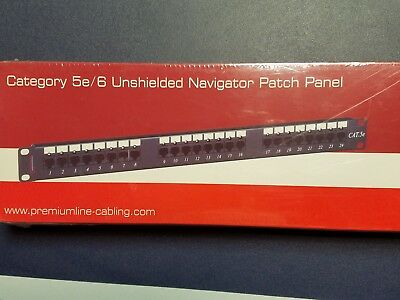 CAT5E 24 PORT PATCH PANEL RACK MOUNT and FREE SHIPPING!
