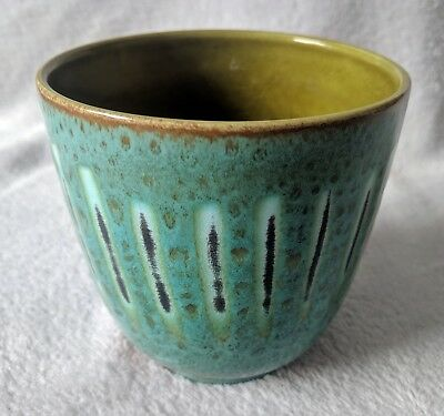 Poole Pottery Rare Early Vase Pot Holder Stunning Colour Mint Condition