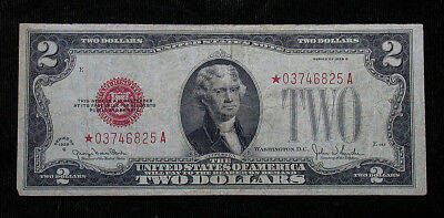 1928 G Series $2 Red Seal STAR United States Note (mb1886)