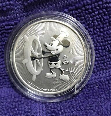 2017 Mickey Mouse Steamboat Willie Coin, 1 ounce, 99.99% PURE SILVER, BU