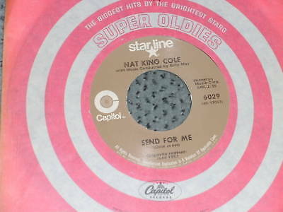 "7"" Single:Nat King Cole-Send for me/Looking back,Capitol Starline USA"