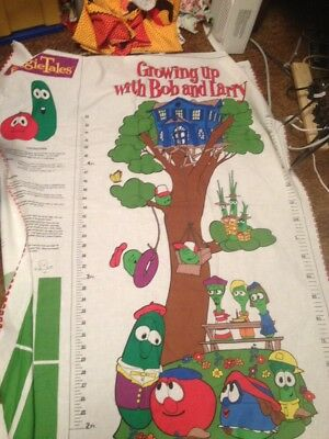 Veggie Tales Growth Chart To Cut And Put Together. Inches & Centimeters Uncut