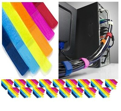 Weyli Computer Cable Wire Wrap Tie Holder Organizer, 7 inch Multicolor, 100-PACK