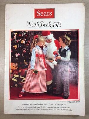 Sears Wishbook Cataloge 1973 Christmas Toys Magazine Shopping Ordering Reference