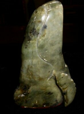 Hand Carved NEPHRITE JADE BREACHING WHALE from Plaskett Creek at Big Sur, CA