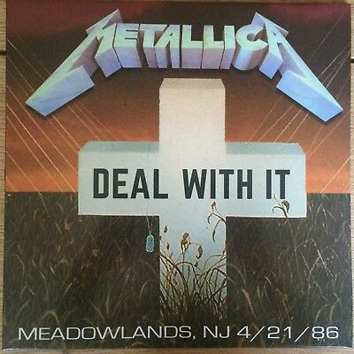 Metallica Deal with it, Meadowlands, East Rutherford 21.04.86 white vinyl LP