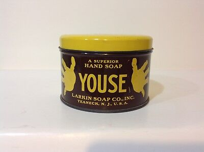 Vintage Youse Hand Soap Tin / Great Color & Graphics /advertising