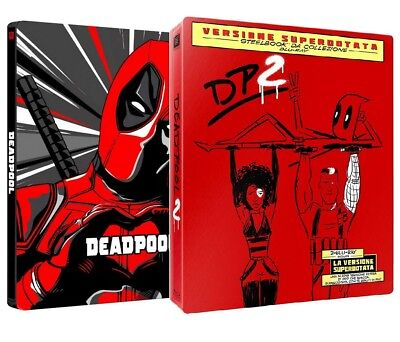 DEADPOOL 1 e 2 - COLLEZIONE STEELBOOK 2 FILM (3 BLU-RAY) con Ryan Reynolds