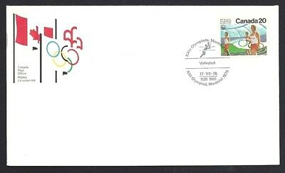 Canada   # 682     OLYMPIC VOLLEYBALL CEREMONIES        New 1976 Unaddressed