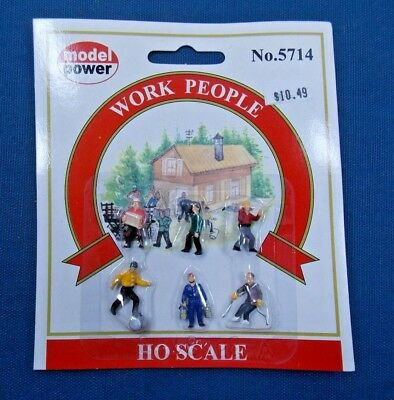 HO SCALE WORK CREW ASSORTED HAND PAINTED FIGURES 5701 HO Scale