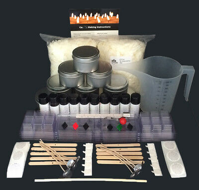 Extra Large Soy Candle Making Kit with 10 x 30ml Fragrances