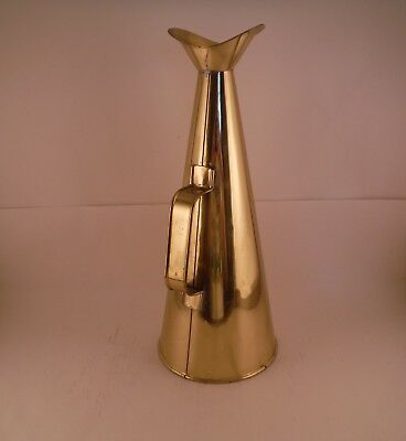 Vintage Brass Megaphone Maritime Ship Horn Fireman Danish Made in Denmark