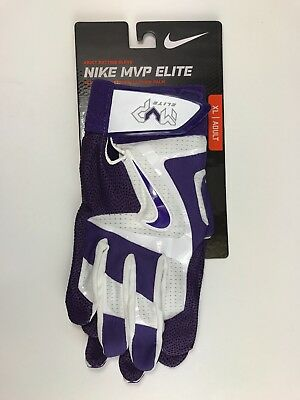 Nike MVP ELITE Baseball Batting Gloves Purple GB0378-150 Adult Size XL XLarge