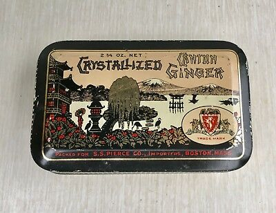 Vintage S. S. Pearce Company Canton Ginger Candy Tin Antique
