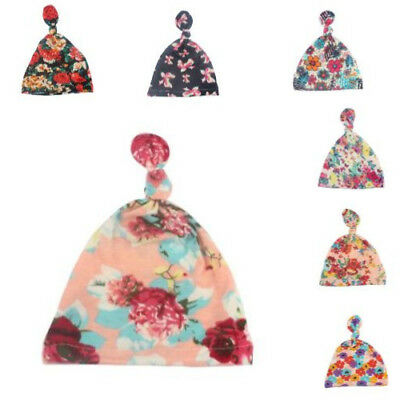 Printed Cap New Acute Fashion Children Fashion Floral  Knotted Summer Baby Hat
