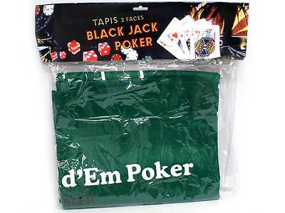 Black Jack & Poker Layout Felt Green Mat Card Games Casino Toy Novelty Hobby