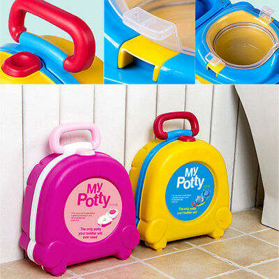 New Portable Kids Baby Potty Toilet Training Seat Chair Car Travel Lightweight
