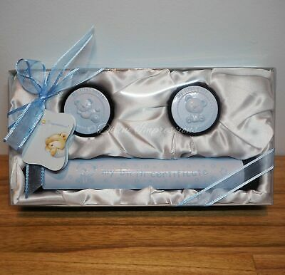 Birth Certificate Holder My First Curl & Tooth Keepsake Baby Set - Blue Boy