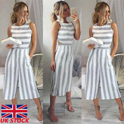 UK Womens Bodycon Evening Party Playsuit Ladies Romper Long Jumpsuit Size 6 -16