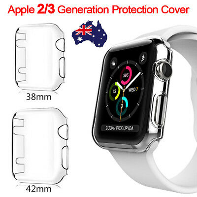 38mm/42mm Clear Ultra Full Case Cover Screen Protector For Apple Watch Series 3