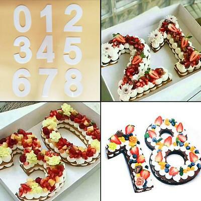 Large Silicone Number Cake Tin Mould Birthday Anniversary 0 1 2 3 4 5 6 7 8 9