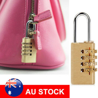 4 Digit Combination Padlock Security Travel Suitcase Luggage Bag Code Brass Lock