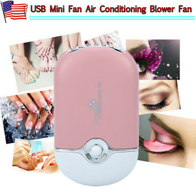 USB Mini Fan Air Conditioning Blower Fan Fit Eyelash Extension Nail Quick Dryer