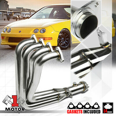 Stainless Steel 4-1 Exhaust Header Manifold for Integra GSR/Civic Si B18 DC1 DC2