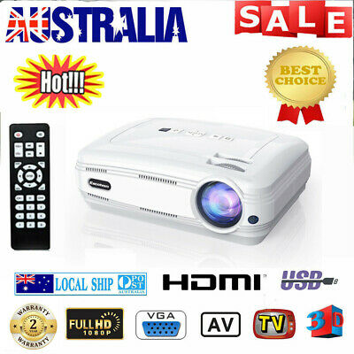 Wifi Android 6.0.1 7000LMs Projector Multimedia Home Theater FHD 1080P 4K Video