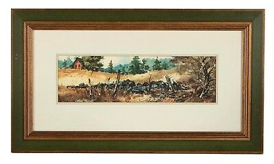 "Original Signed Framed Ludlow Thorston 18"" Landscape Watercolor"