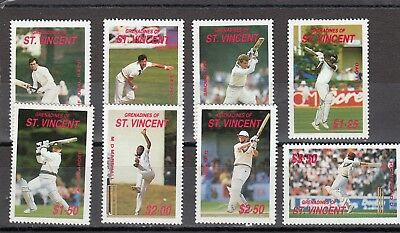 Grenadines St Vincent - Sg573-580 Mnh 1988 Cricketers Of 1988 Season
