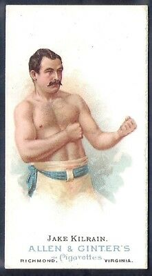 Allen & Ginter (Usa)-Worlds Champions (1St Series N28)- Boxing Jake Kilrain Psa5
