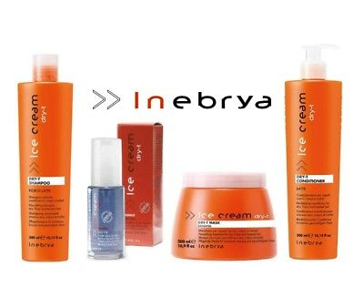 Kit Ice Cream Dry-T - Shampoo + Conditioner + Maschera + FLuido - Inebrya