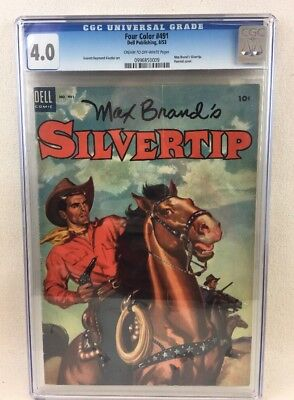FOUR COLOR #491 MAX BRAND'S SILVERTIP CGC Dell Publishing 4.0 (1953)