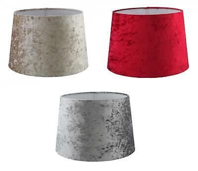Velvet Effect Fabric Empire Drum Lampshade Table or Ceiling Light Shade