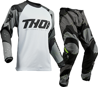 Thor Sector Camo Grey Offroad MX Motocross Race Kit Gear Adult