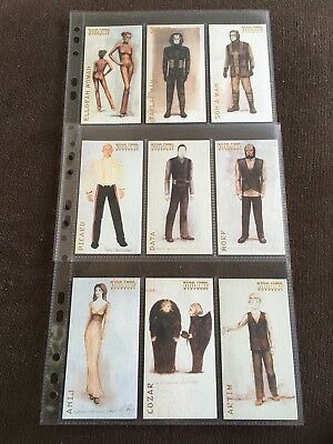 Star Trek Insurrection 9 Card Wardrobe Trading Card Chase Set, 1998 Skybox