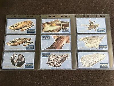 Star Trek Insurrection 9 Card Schematics Trading Card Chase Set, 1998 Skybox
