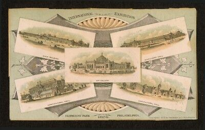 1876 Trade Card Fairmount Park, Philadelphia Centennial Exposition
