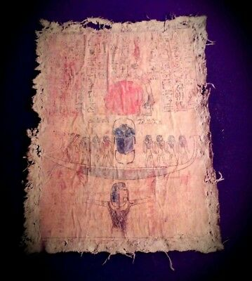 Rare Antique Ancient Egyptian book of bead fabric