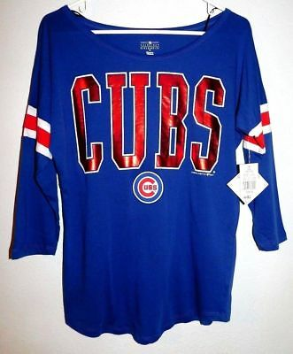 new styles d7a08 49981 MLB GENUINE MERCHANDISE Chicago Cubs Women's Shirts size S (B178)