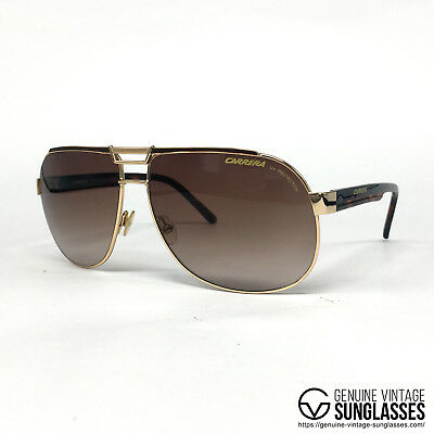 7316662f632 NOS Carrera Dakar gold vintage sunglasses large