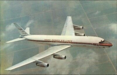 Trans Canada Air Lines Douglas DC-8 Jet Airline Issued Postcard