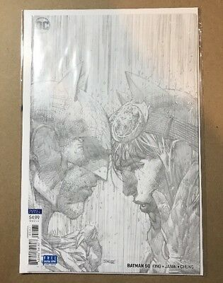 DC Rebirth BATMAN #50 Wedding JIM LEE PENCIL VARIANT COVER Sketch