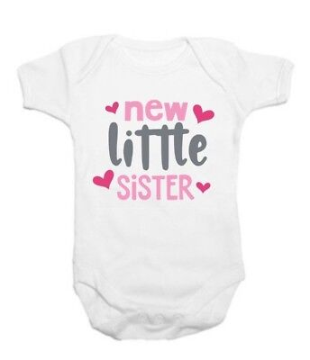 New Baby Vest,Grow top,funny,Gift,New Little sister,New Mum