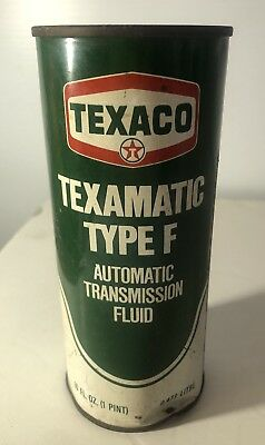 Vintage Unopened Pint Can Texaco Texamatic Type F Atf Fluid Oil Tin Can
