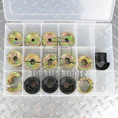 Greenlee 15pc U-Die set kit for 12-ton hydraulic crimping tool NEW