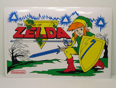 RARE 1989 Legend of Zelda Link Placemat Nintendo NES New Video Game VTG Artwork
